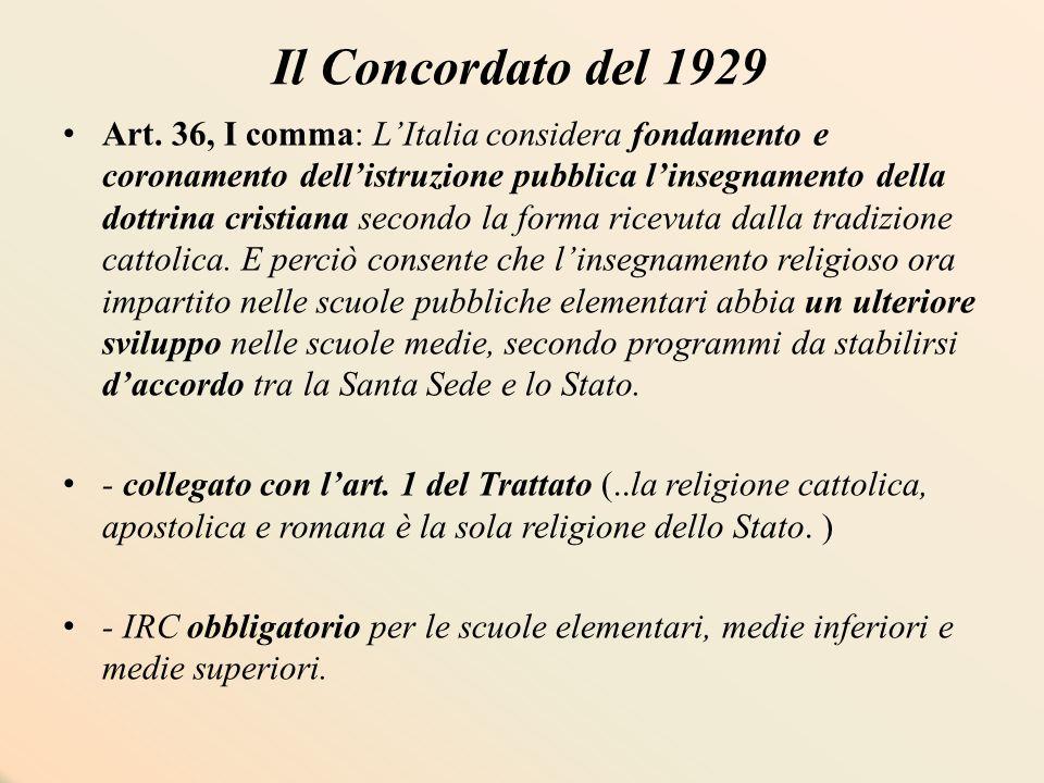 Concordato del 1984 Art.9 2.