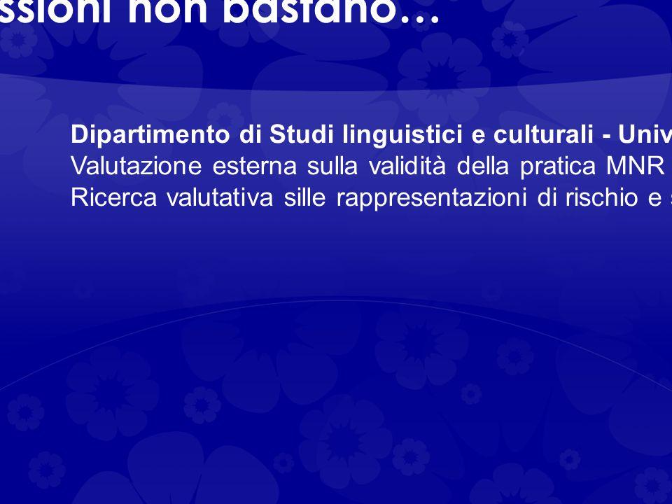 Le prime impressioni non bastano… Dipartimento di Studi linguistici e culturali - Università di Modena e Reggio Emilia (prof. Claudio Baraldi): Valuta