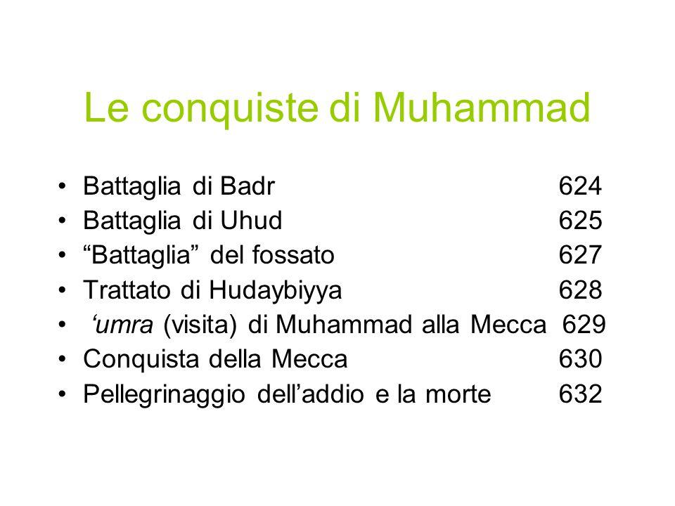 Muhammad a Medina L'egira sancisce la nascita della umma islamica e da quella data parte il calendario musulmano (12 mesi lunari). A Medina Muhammad g