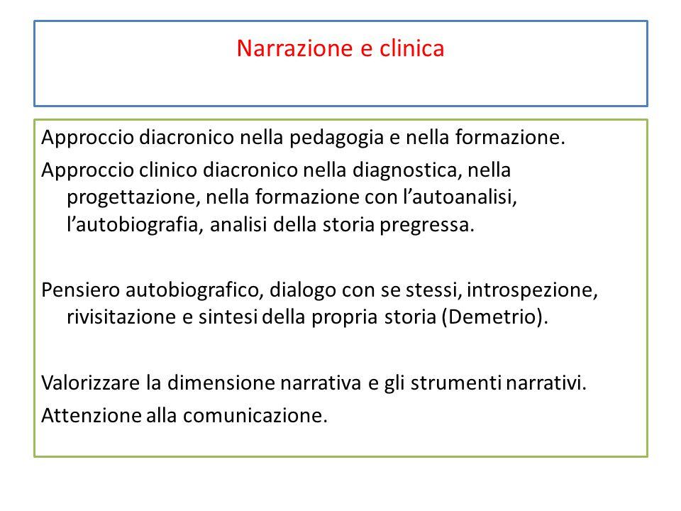 Narrazione e clinica Approccio diacronico nella pedagogia e nella formazione.