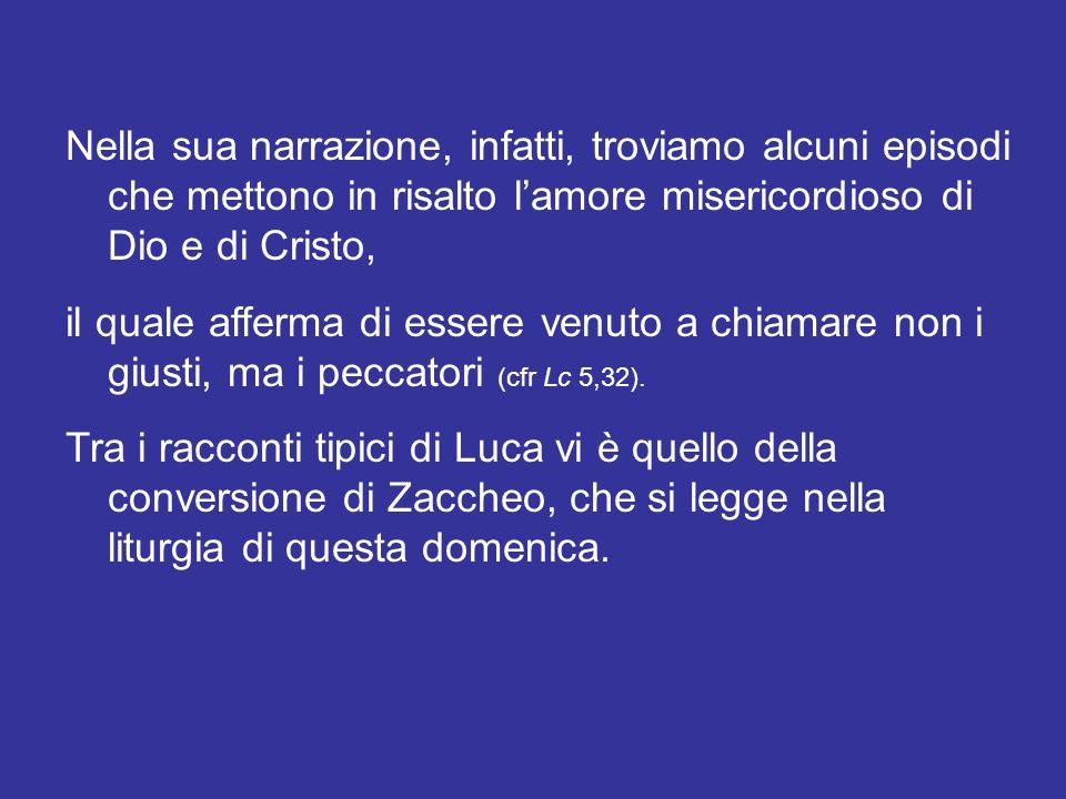 L'Evangelista san Luca riserva una particolare attenzione al tema della misericordia di Gesù.