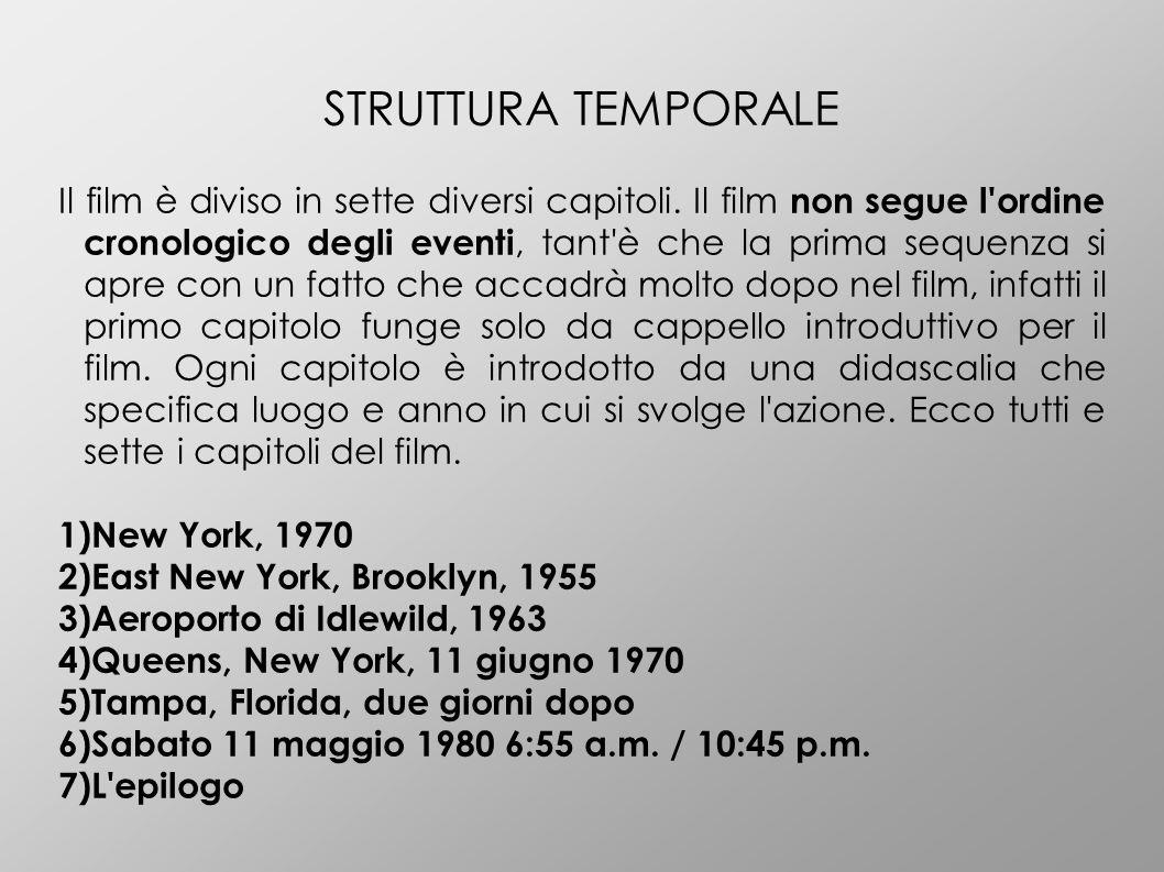 ANALISI STILISTICA Scorsese utilizza diverse tecniche di ripresa sul set di questo film, ma la più utilizzata è sicuramente il fermo immagine.