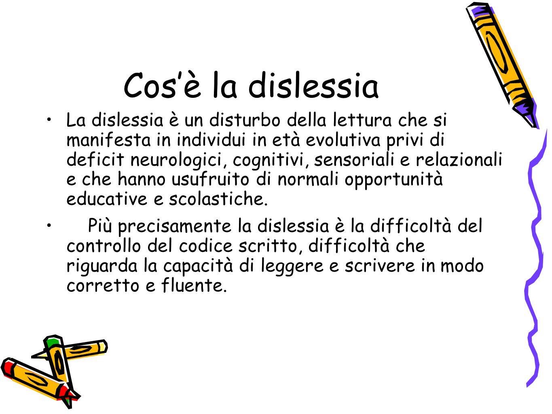 Il bambino dislessico apprende rapidamente attraverso l'osservazione e soprattutto attraverso gli aiuti visuali.