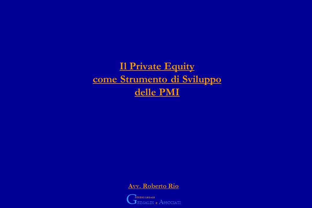 Il Private Equity come Strumento di Sviluppo delle PMI Avv.
