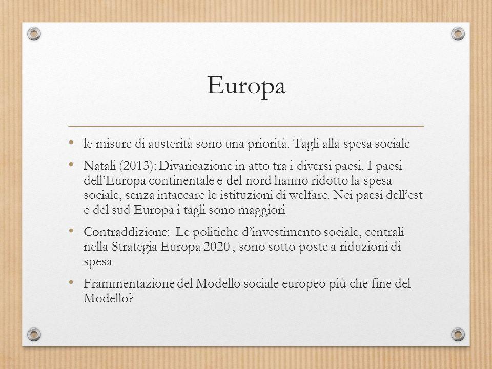 Europa le misure di austerità sono una priorità.