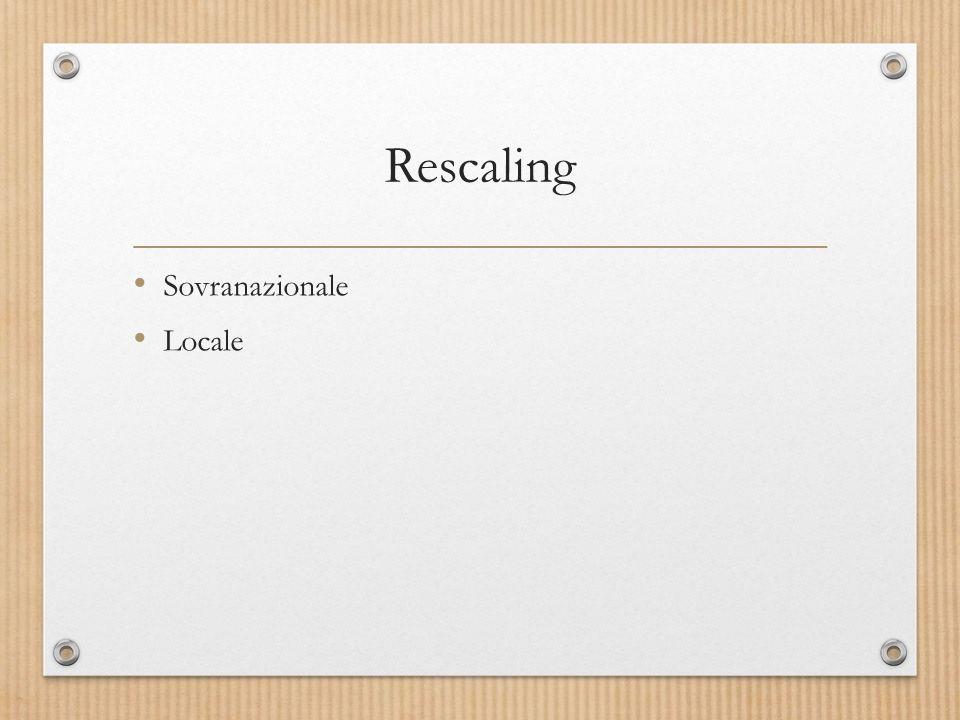 Rescaling Sovranazionale Locale