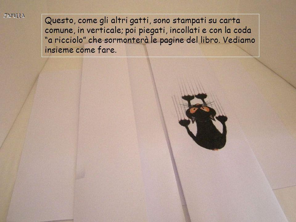 Occorrente: gatti stampati su foglio A4; filo di alluminio colorato nero colla vinilica (facoltativa), colla artiglio e forbici