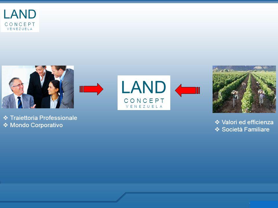 LAND C O N C E P T V E N E Z U E L A LAND C O N C E P T V E N E Z U E L A  Traiettoria Professionale  Mondo Corporativo  Valori ed efficienza  Società Familiare