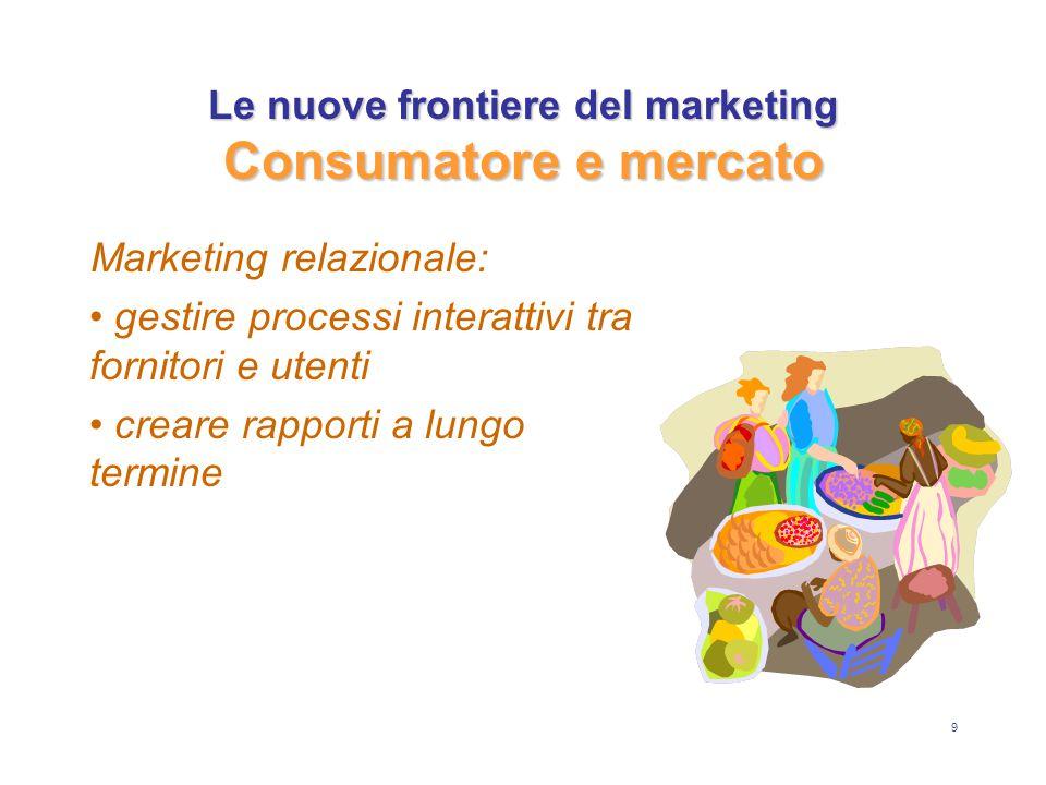 9 Marketing relazionale: gestire processi interattivi tra fornitori e utenti creare rapporti a lungo termine