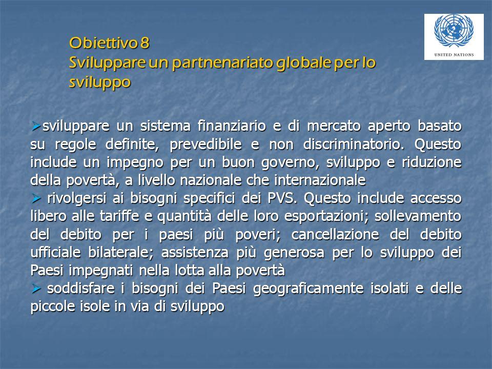  sviluppare un sistema finanziario e di mercato aperto basato su regole definite, prevedibile e non discriminatorio.
