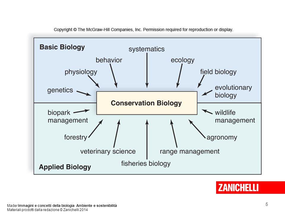 5 Mader Immagini e concetti della biologia Ambiente e sostenibilità Materiali prodotti dalla redazione © Zanichelli 2014
