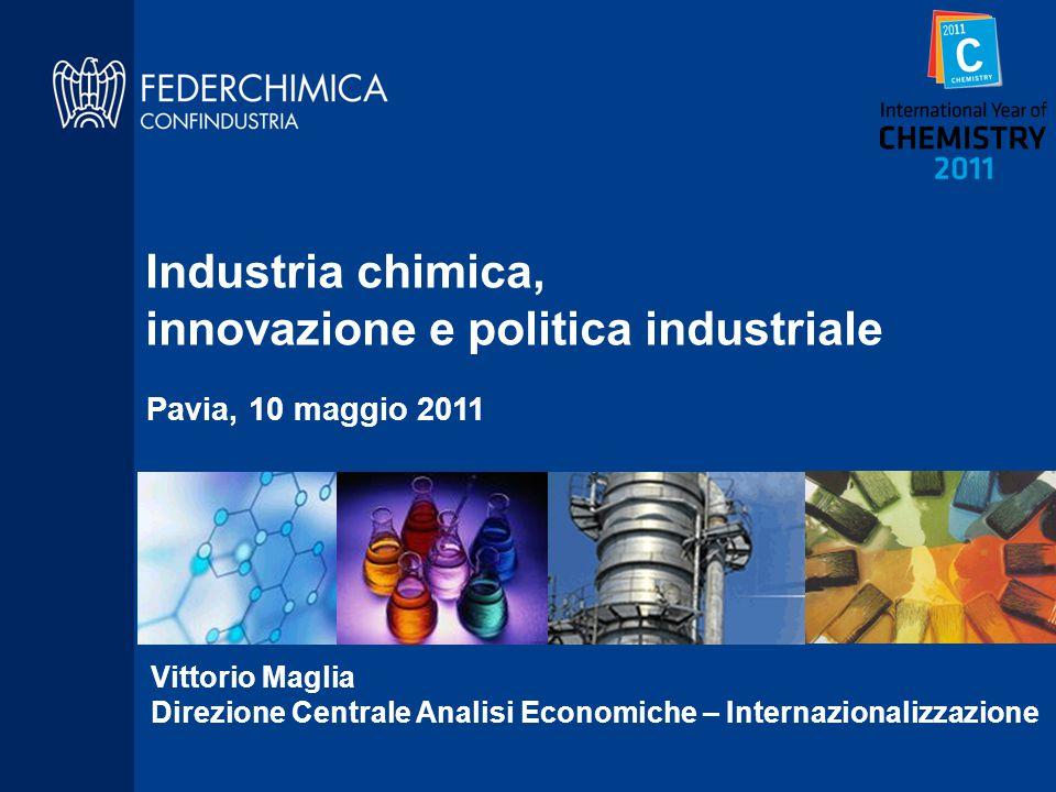 Vittorio Maglia Direzione Centrale Analisi Economiche – Internazionalizzazione Industria chimica, innovazione e politica industriale Pavia, 10 maggio 2011