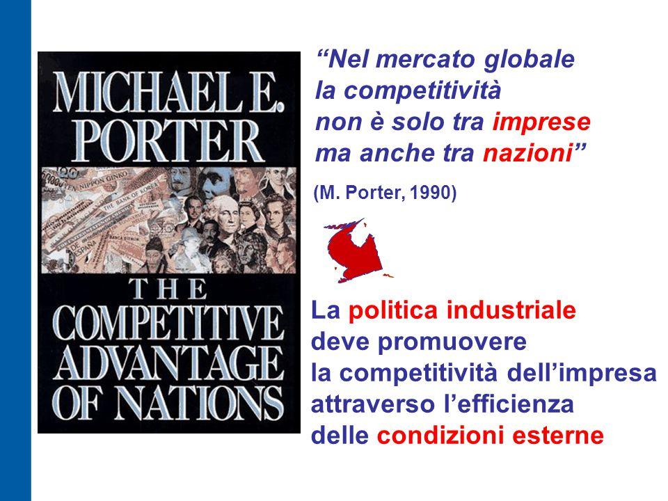 Nel mercato globale la competitività non è solo tra imprese ma anche tra nazioni (M.