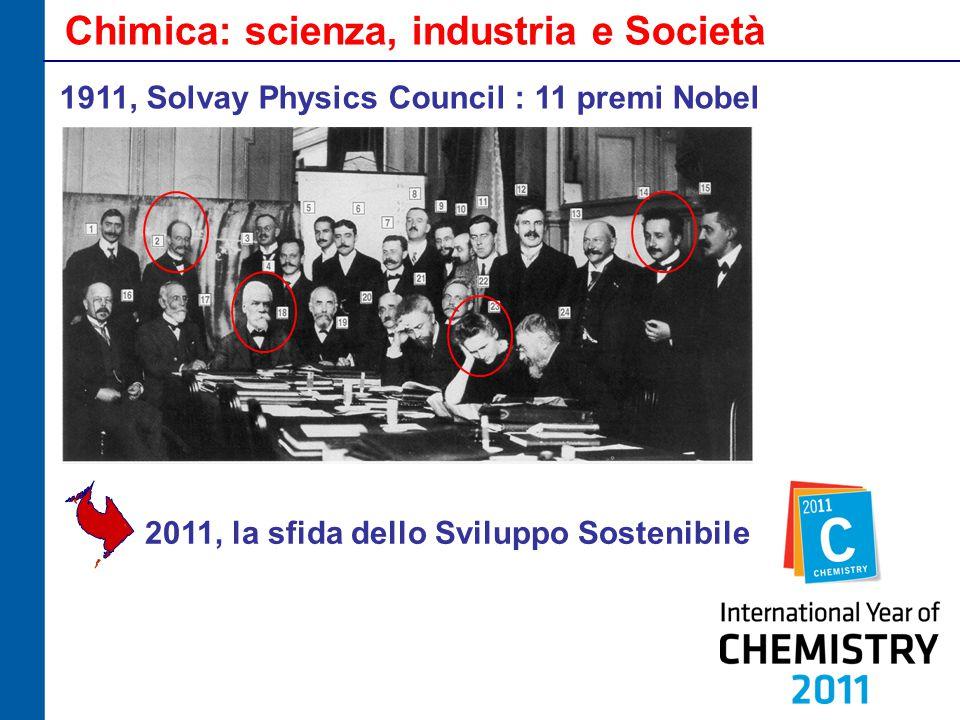Chimica: scienza, industria e Società 1911, Solvay Physics Council : 11 premi Nobel 2011, la sfida dello Sviluppo Sostenibile