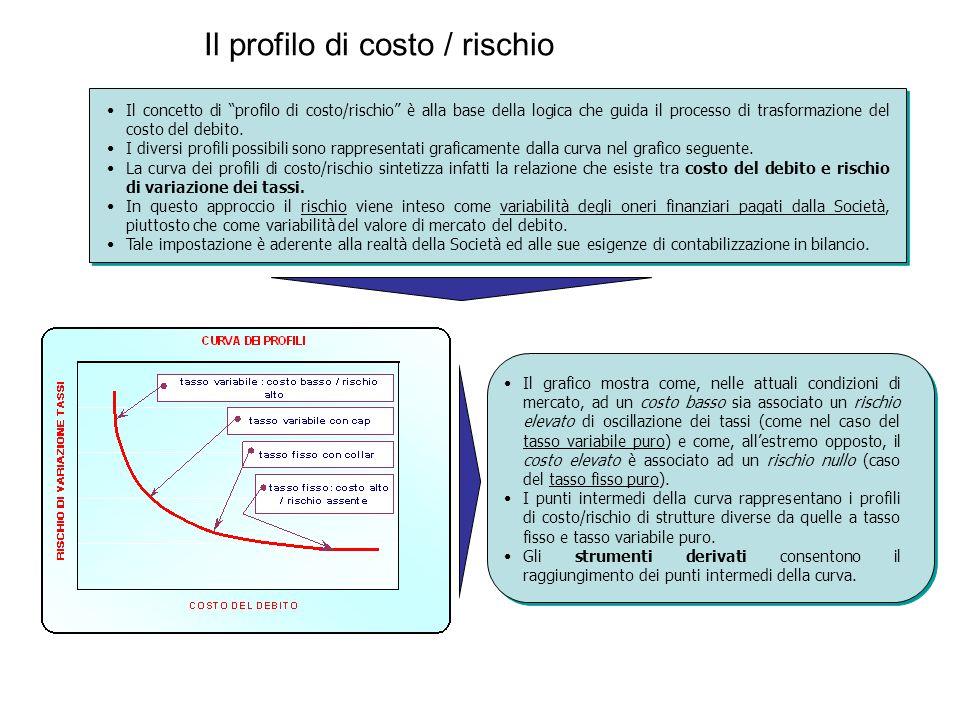 """Il profilo di costo / rischio Il concetto di """"profilo di costo/rischio"""" è alla base della logica che guida il processo di trasformazione del costo del"""