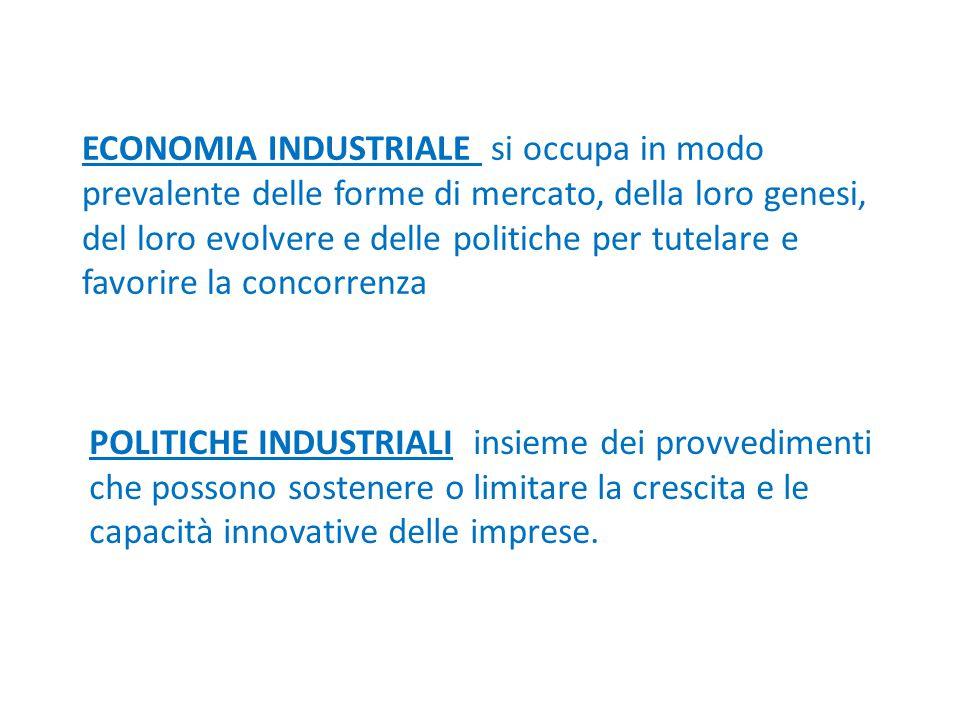 Il peso delle piccole imprese in Italia 27% imprese è formato da 1-2 addetti 95% ha meno di 10 addetti 47% di occupati è in imprese con meno di 10 addetti 70% degli occupati nell'industria manifatturiera è in imprese con meno di 100 addetti
