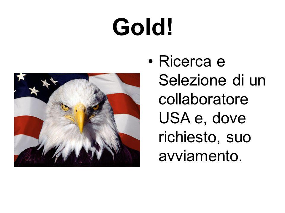 Gold! Ricerca e Selezione di un collaboratore USA e, dove richiesto, suo avviamento.