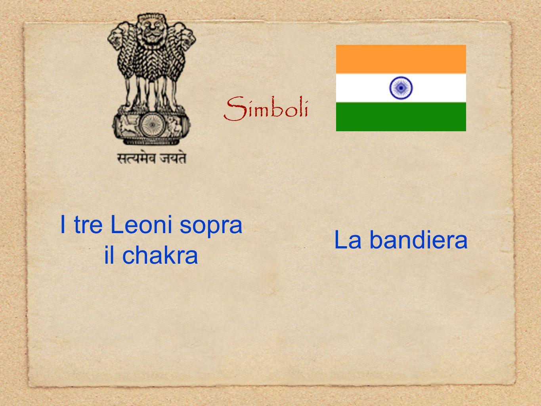 Simboli I tre Leoni sopra il chakra La bandiera