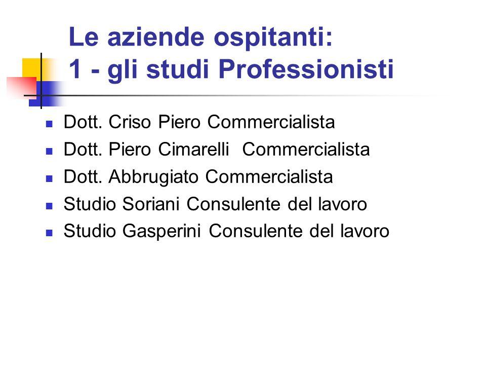 Dott. Criso Piero Commercialista Dott. Piero Cimarelli Commercialista Dott. Abbrugiato Commercialista Studio Soriani Consulente del lavoro Studio Gasp