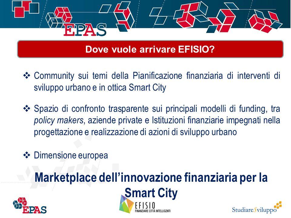  Community sui temi della Pianificazione finanziaria di interventi di sviluppo urbano e in ottica Smart City  Spazio di confronto trasparente sui pr