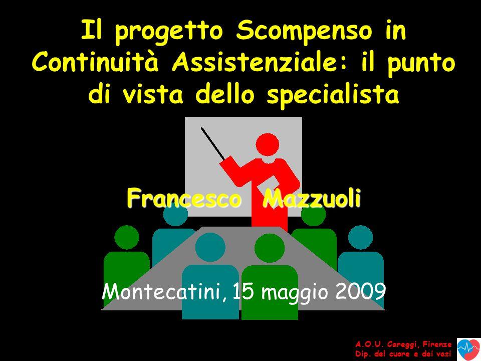 Francesco Mazzuoli Montecatini, 15 maggio 2009 A.O.U.