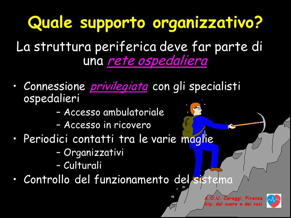 A.O.U.Careggi, Firenze Dip. del cuore e dei vasi Quale supporto deve offrire l'ospedale .