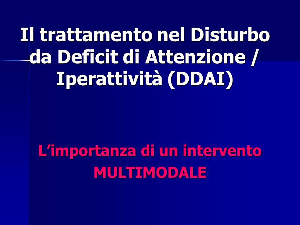 Il trattamento nel Disturbo da Deficit di Attenzione / Iperattività (DDAI) L'importanza di un intervento MULTIMODALE