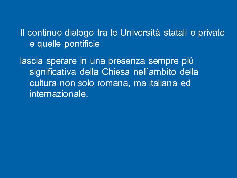 Riflettere sulla fede, in quest Anno della fede, è l'invito che desidero rivolgere a tutta la comunità accademica di Roma.