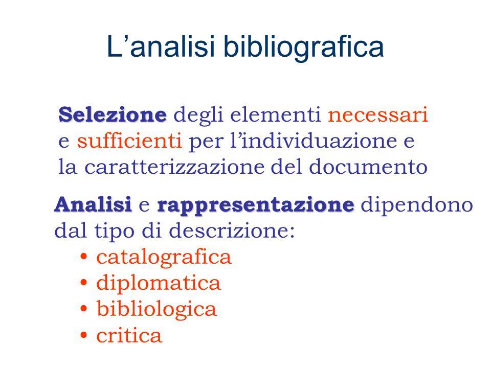 L'analisi bibliografica combinazione E' la combinazione di tre microanalisi autonome ed interdipendenti l'analisi concettuale l'analisi letteraria l'analisi formale