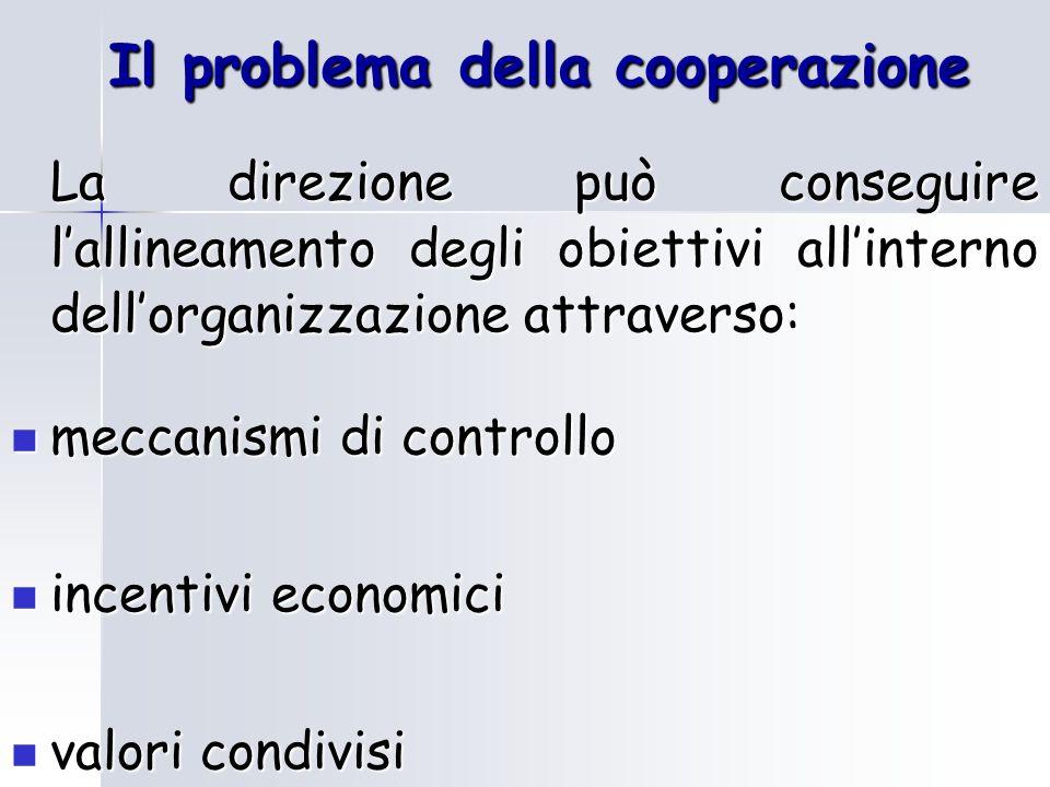 La gerarchia Specializzazione del lavoro, coordinamento e cooperazione sono i principali aspetti che sono alla base del modello gerarchico adottato dall'impresa L'essenza della gerarchia è la creazione di unità specializzate, coordinate e controllate da unità di livello superiore
