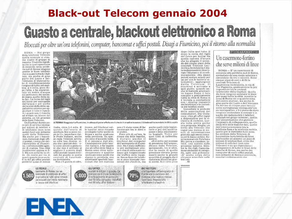 Black-out Telecom gennaio 2004