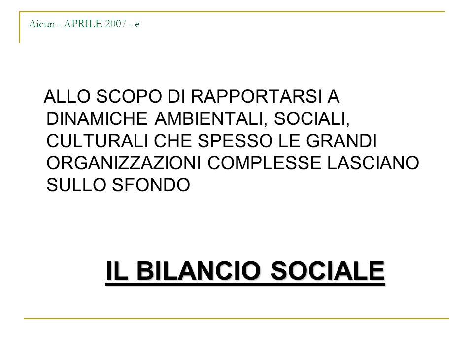 Aicun - APRILE 2007 - f COME ORGANIZZARE UNA COMUNICAZIONE SOCIALE.