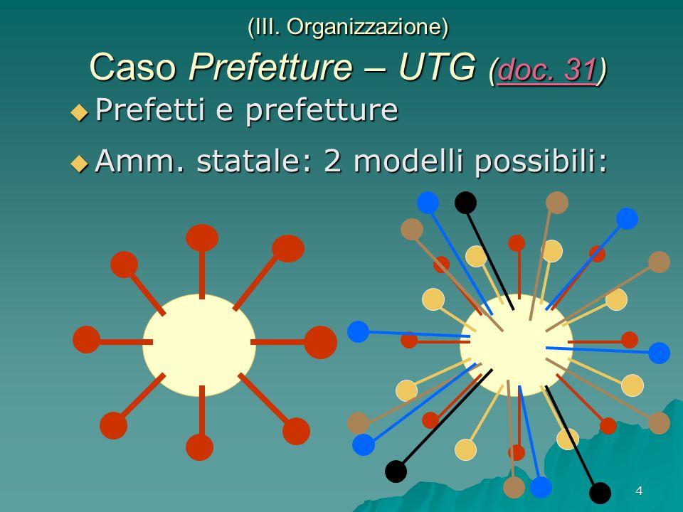 4 (III. Organizzazione) Caso Prefetture – UTG (doc.