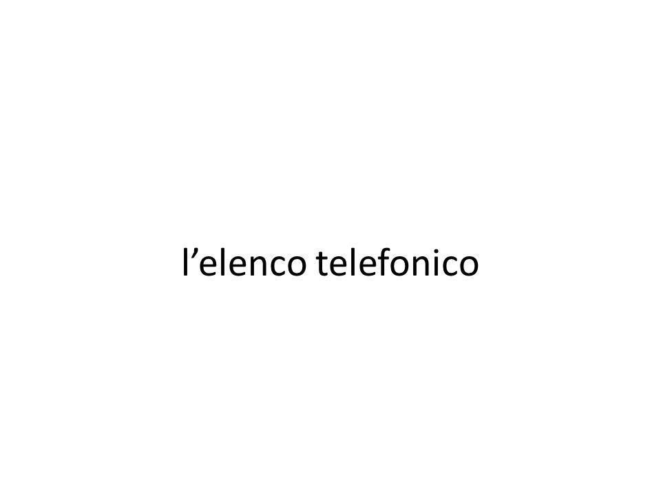 l'elenco telefonico
