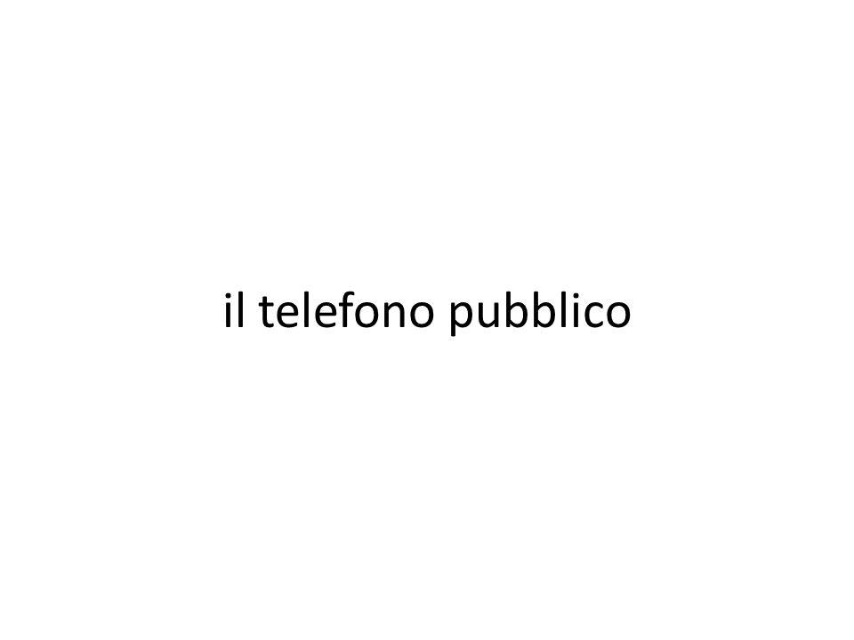 il telefono pubblico