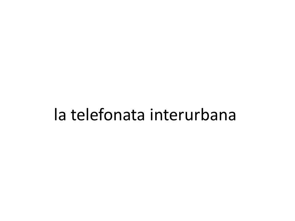 la telefonata interurbana