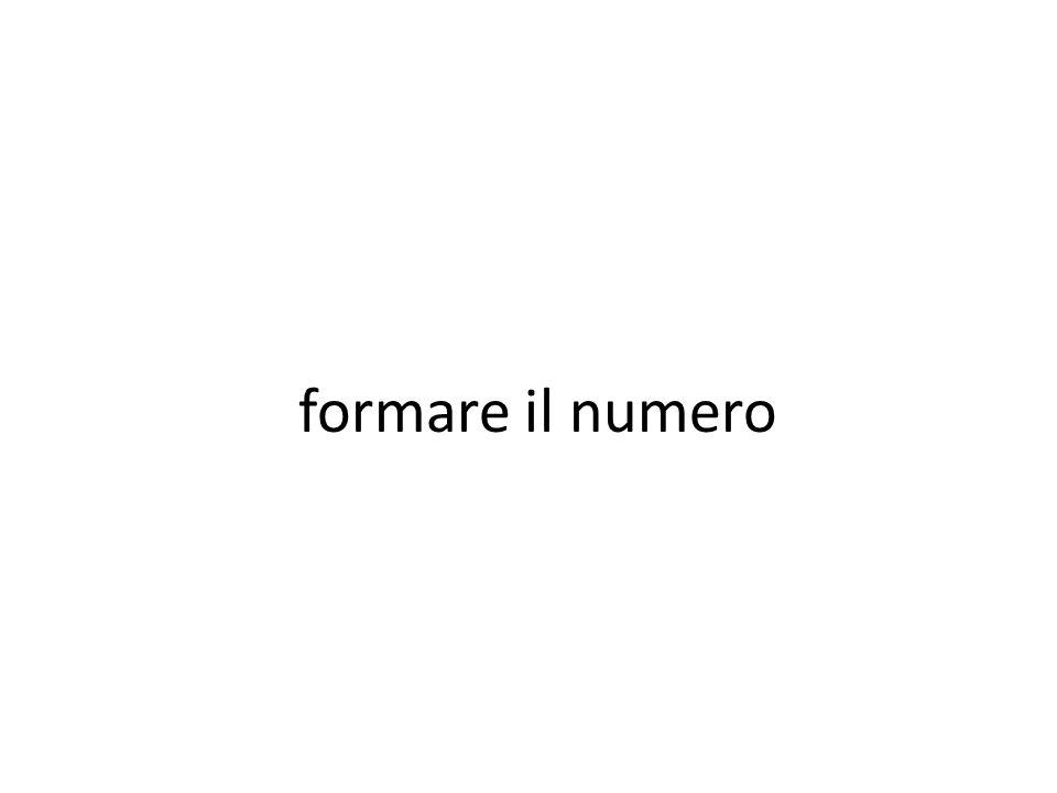 formare il numero