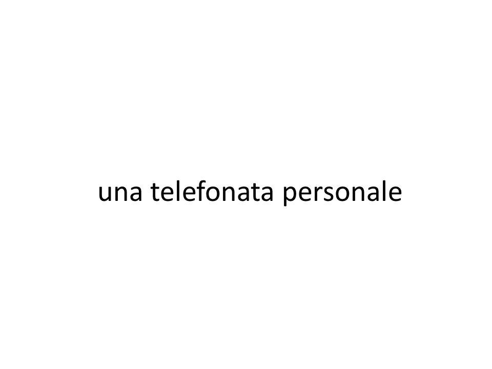 una telefonata personale