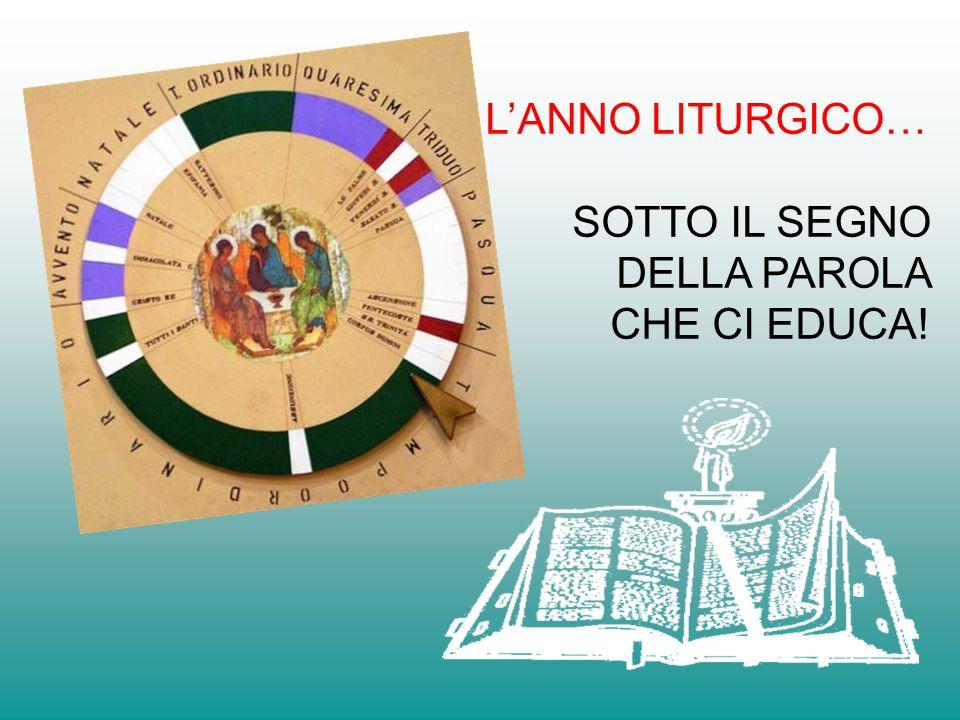 L'ANNO LITURGICO… SOTTO IL SEGNO DELLA PAROLA CHE CI EDUCA!