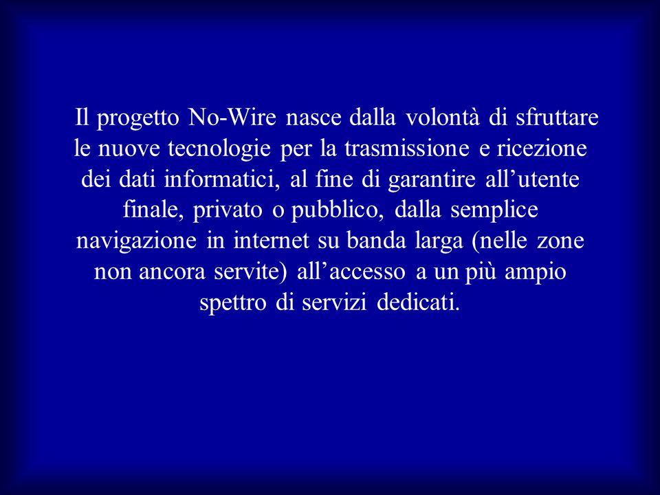 Il progetto No-Wire nasce dalla volontà di sfruttare le nuove tecnologie per la trasmissione e ricezione dei dati informatici, al fine di garantire al