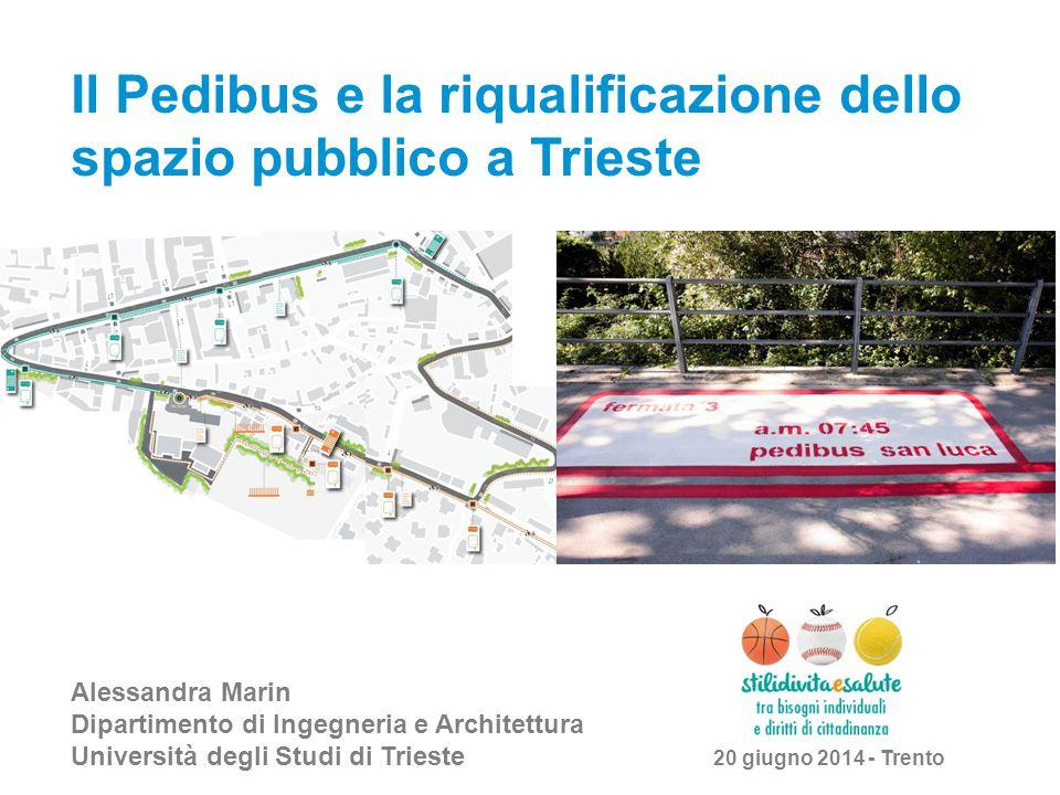Il Pedibus e la riqualificazione dello spazio pubblico a Trieste Alessandra Marin Dipartimento di Ingegneria e Architettura Università degli Studi di