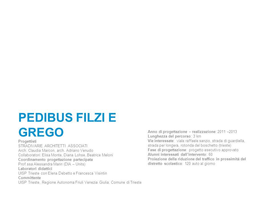 PEDIBUS FILZI E GREGO Progettisti STRADIVARIE ARCHITETTI ASSOCIATI Arch. Claudia Marcon, arch. Adriano Venudo Collaboratori: Elisa Monte, Diana Lohse,