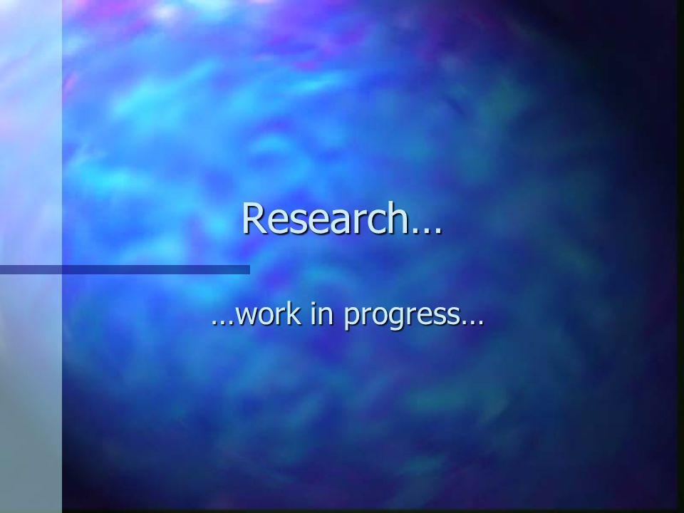 Communication Research: calssificazione delle ricerche n Criterio cronologico insufficiente 1.