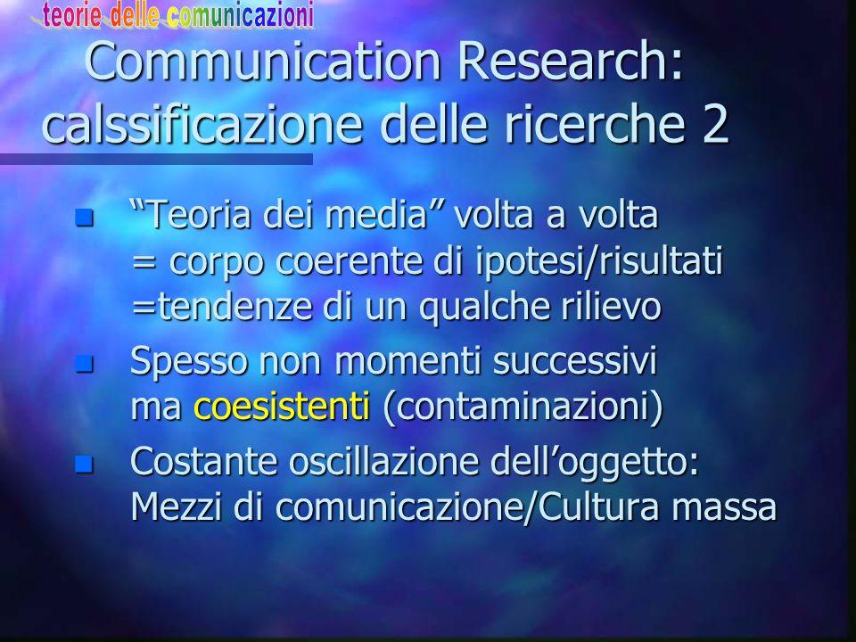 Esposizione selettiva 2 n Analizzare chi ascolta cosa e perché.
