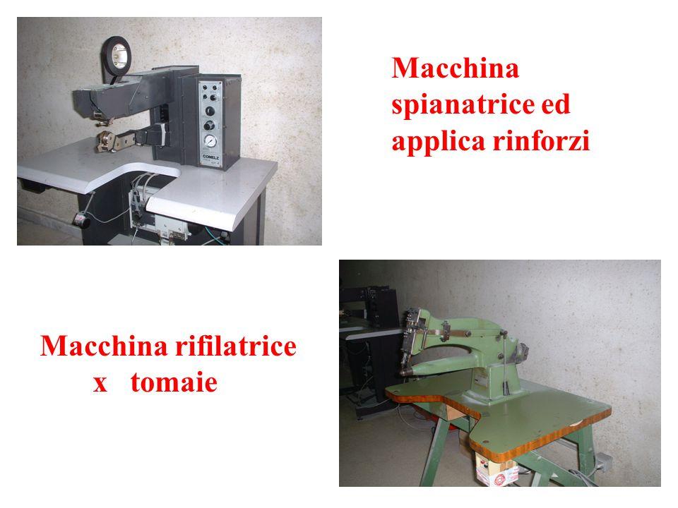 Macchina spianatrice ed applica rinforzi Macchina rifilatrice x tomaie