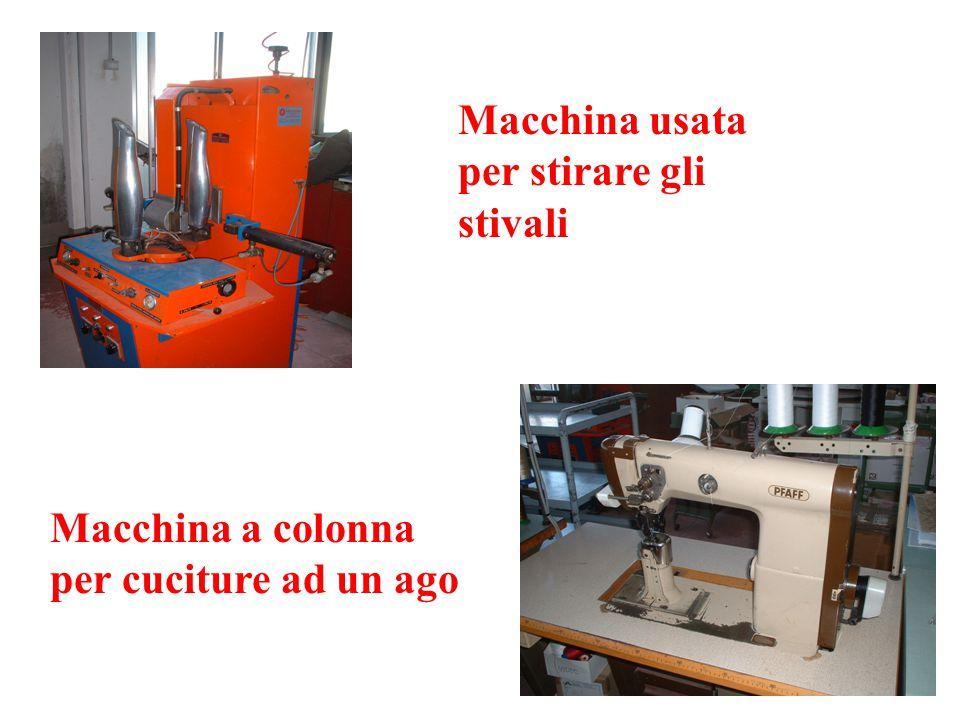 Macchina usata per stirare gli stivali Macchina a colonna per cuciture ad un ago
