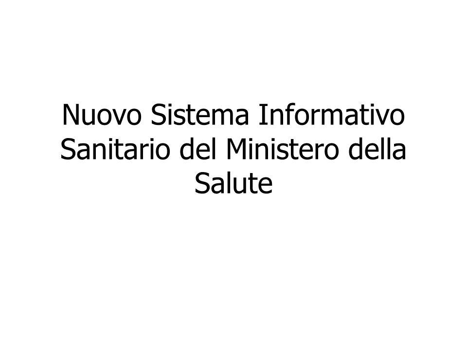 Nuovo Sistema Informativo Sanitario del Ministero della Salute