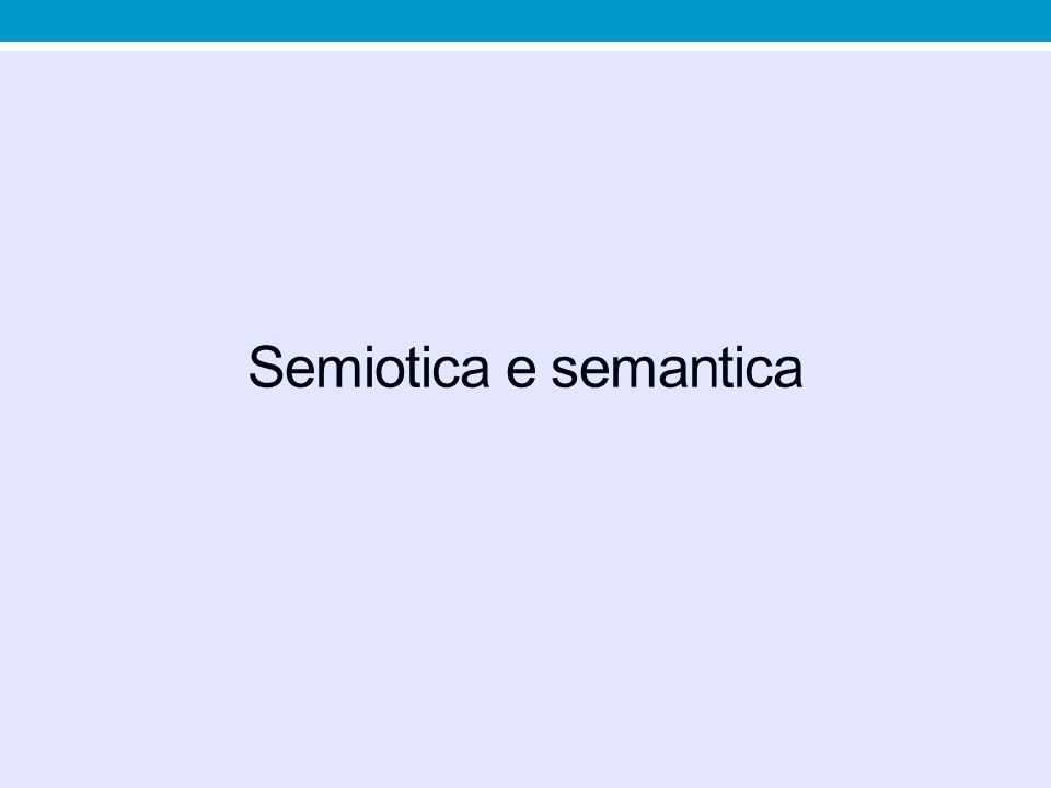 Semiotica e semantica
