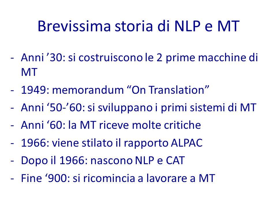 NLP: i problemi L'approfondimento dello studio del linguaggio ha portato i ricercatori a scoprire una grande varietà di problemi ad esso sottostanti.