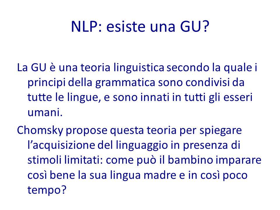 NLP: esiste una GU.